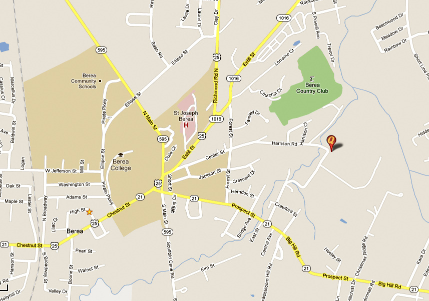 Berea Friends Meeting map